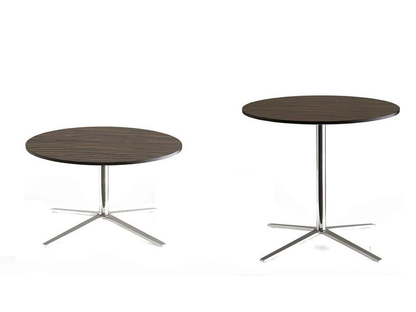 Round multi-layer wood table with 4-star base COSMOS   Table with 4-star base by B&B Italia Project