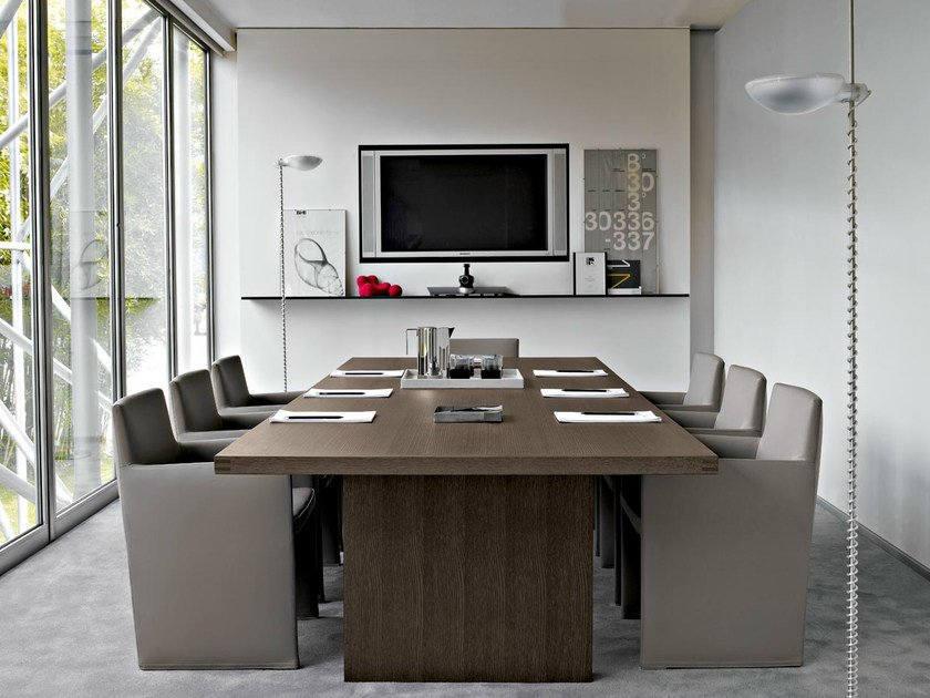 Rectangular meeting table AC EXECUTIVE | Meeting table by B&B Italia Project
