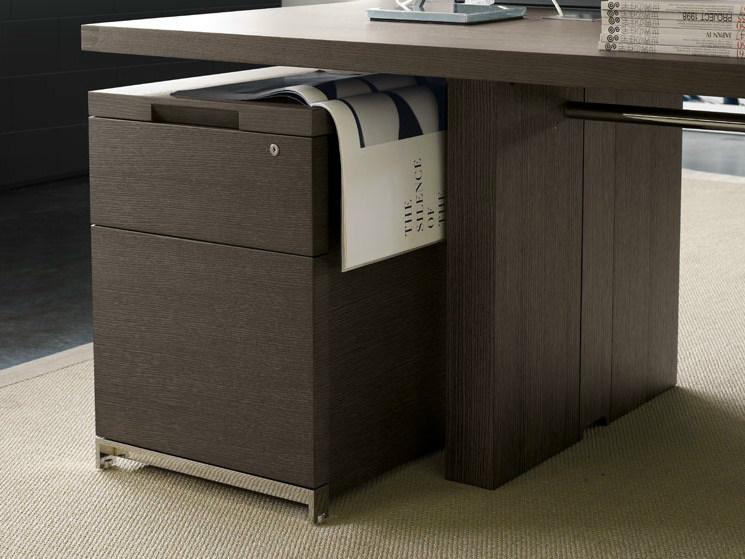 Office drawer unit AC EXECUTIVE   Wooden office drawer unit by B&B Italia Project