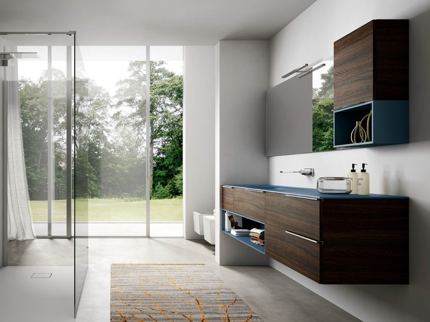 Vanity unit with cabinets MY TIME 01 by Idea