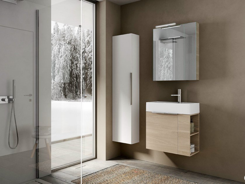 Vanity unit with cabinets MY TIME 10 by Idea