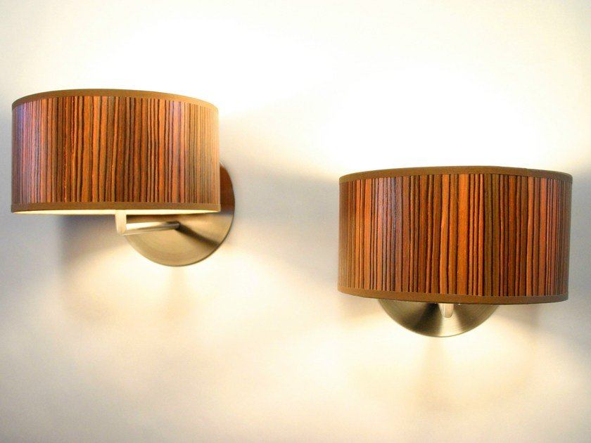 Wood veneer wall light DOT | Wall light by Lampa