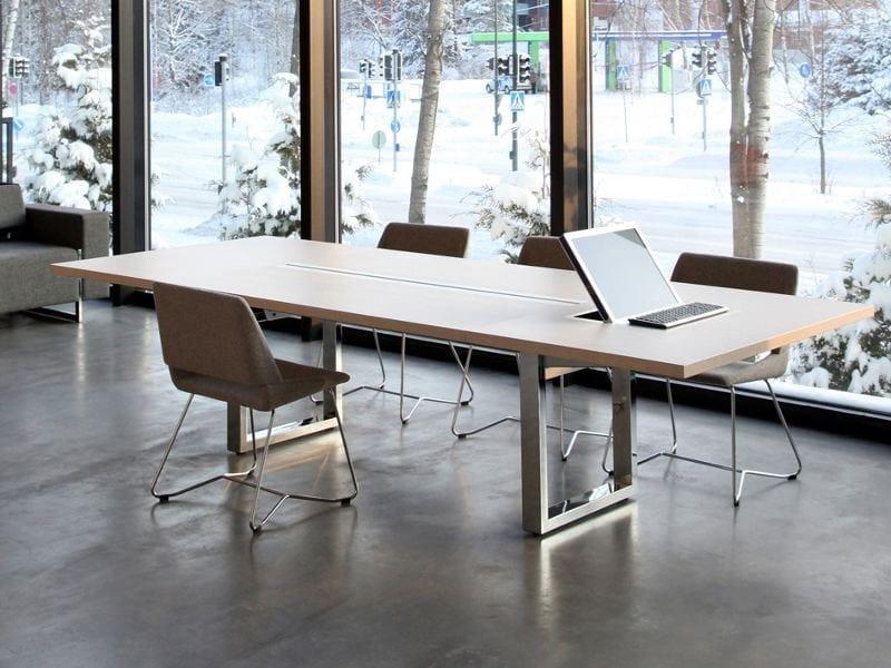 Modular rectangular meeting table IN-TENSIVE | Rectangular meeting table by Inno