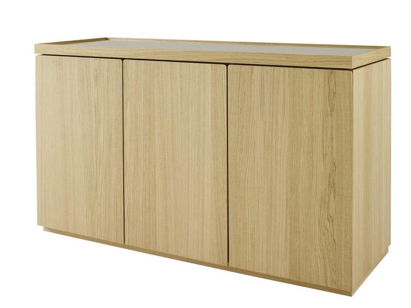 Oak sideboard with doors ESTAMPE | Oak sideboard by Ligne Roset