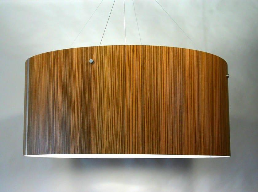 Wood veneer pendant lamp MOTHERLAMP by Lampa