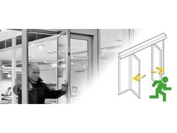 Automated sliding door drive unit Escape route & transport passage(SLX-BO) by Gilgen Door Systems