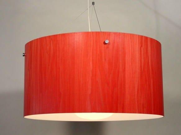 Wood veneer pendant lamp SATELLITE by Lampa