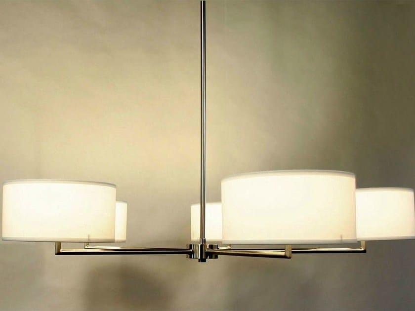 Wood veneer chandelier STAR by Lampa