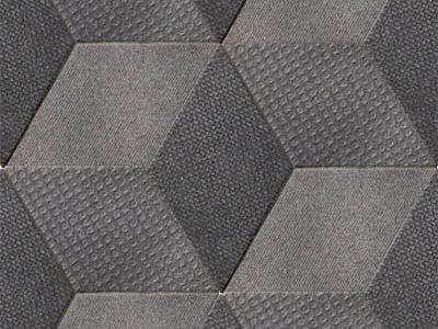 Indoor porcelain stoneware wall/floor tiles TEX BLACK by MUTINA