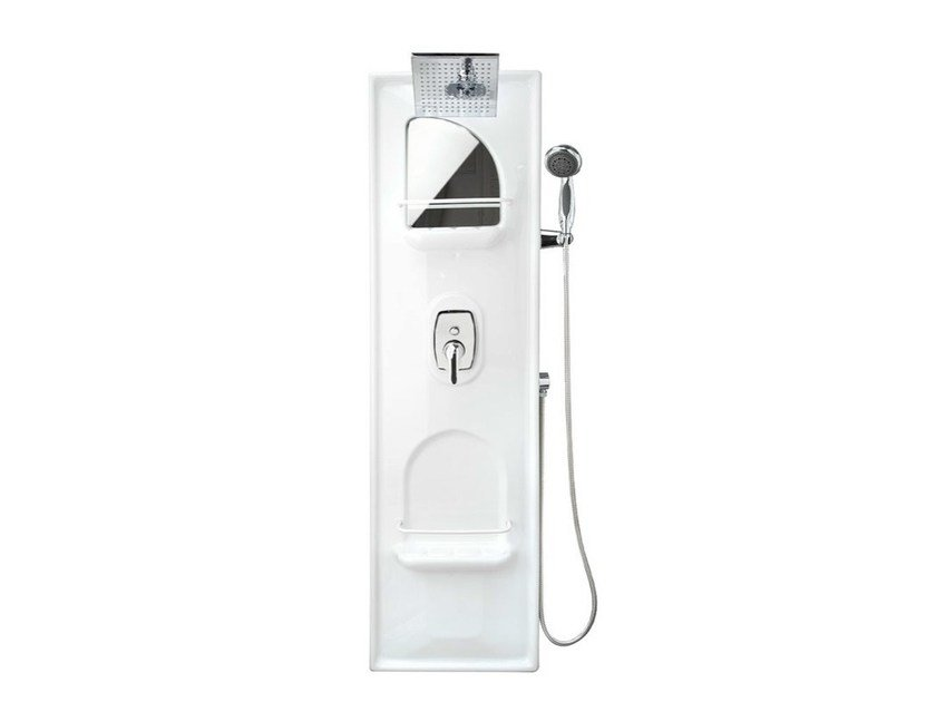 Wall-mounted shower panel Shower panel with diverter by Remail by G.D.L.