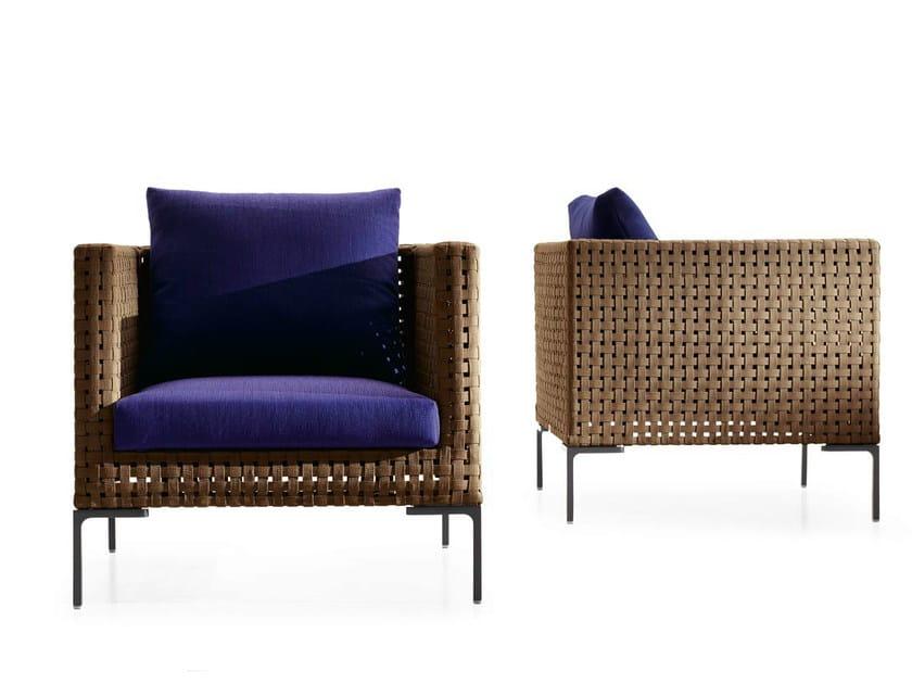 Polypropylene garden armchair with armrests CHARLES OUTDOOR | Garden armchair by B&B Italia Outdoor