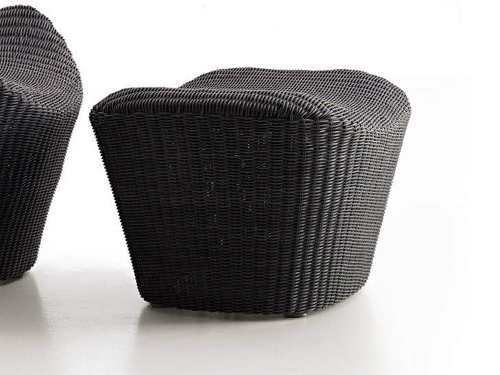 Polyethylene garden footstool PAPILIO OUTDOOR | Garden footstool by B&B Italia Outdoor