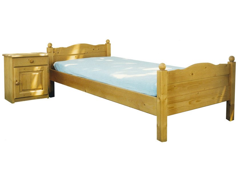 Wooden single bed DOMINIQUE | Wooden bed by Mathy by Bols