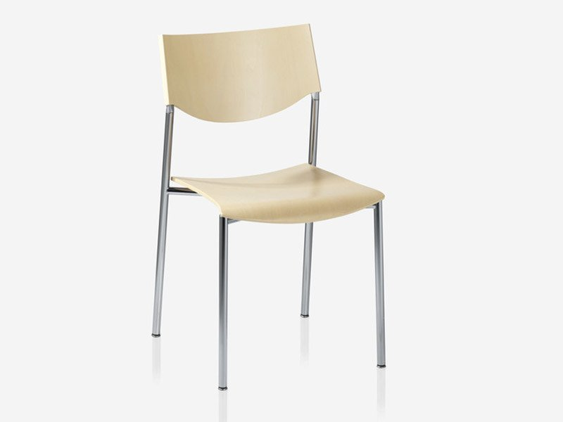 Stackable wooden chair JUMP | Chair by Brunner