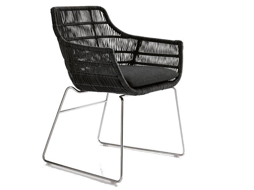 Crinoline Chair With Armrests By Bb Italia Outdoor Design
