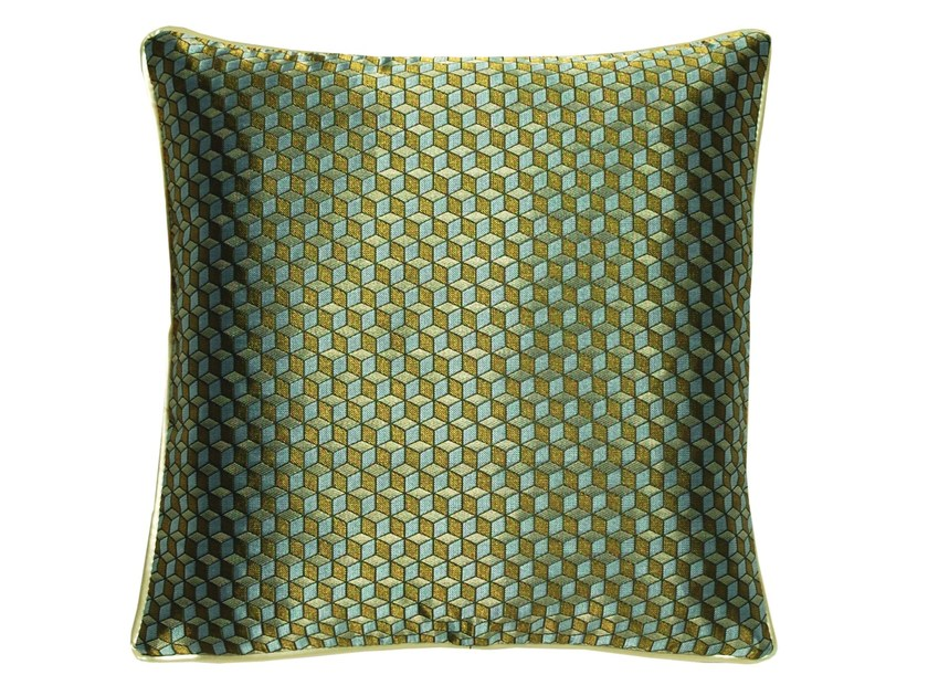 Square cushion GOLDEN GATE by LELIEVRE