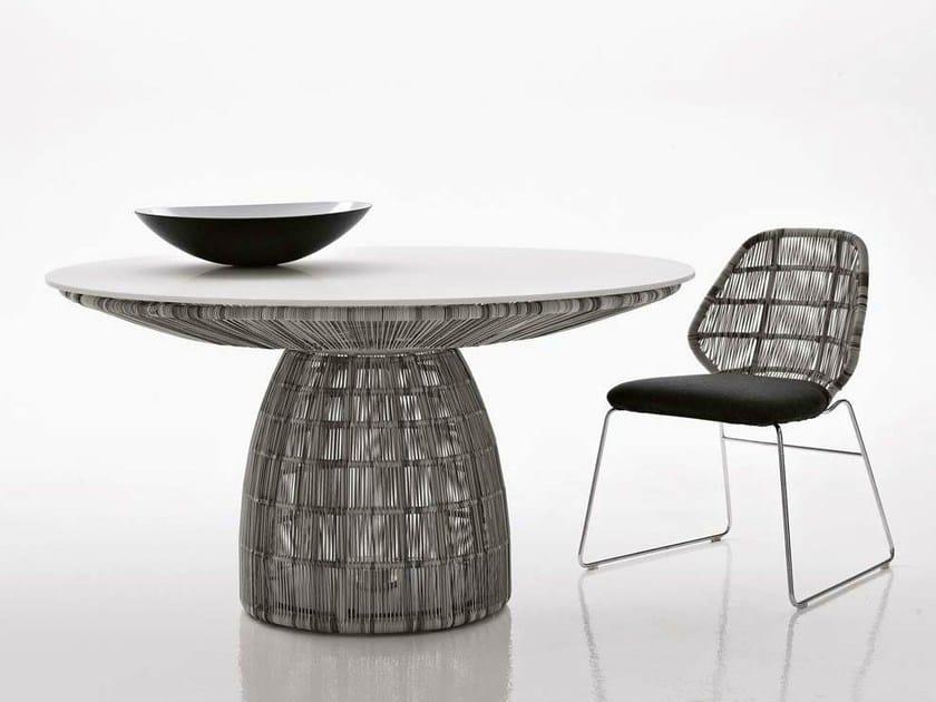 Round polyethylene garden table CRINOLINE   Table by B&B Italia Outdoor