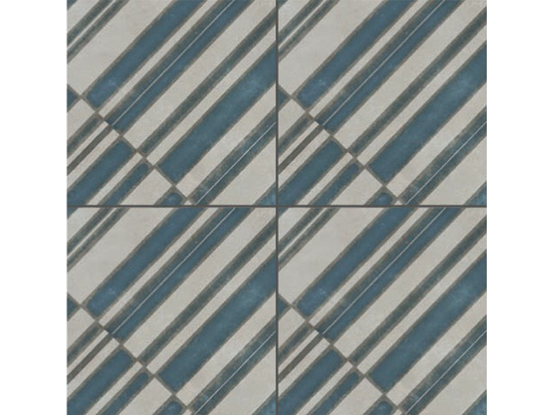 Glazed stoneware wall/floor tiles AZULEJ GRIGIO DIAGONAL by MUTINA