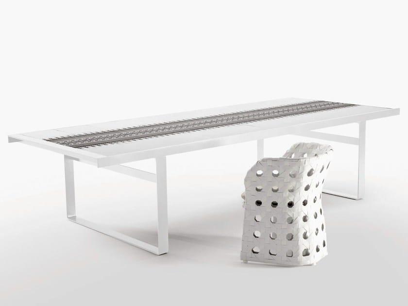 Rectangular porcelain stoneware garden table CANASTA   Garden table by B&B Italia Outdoor