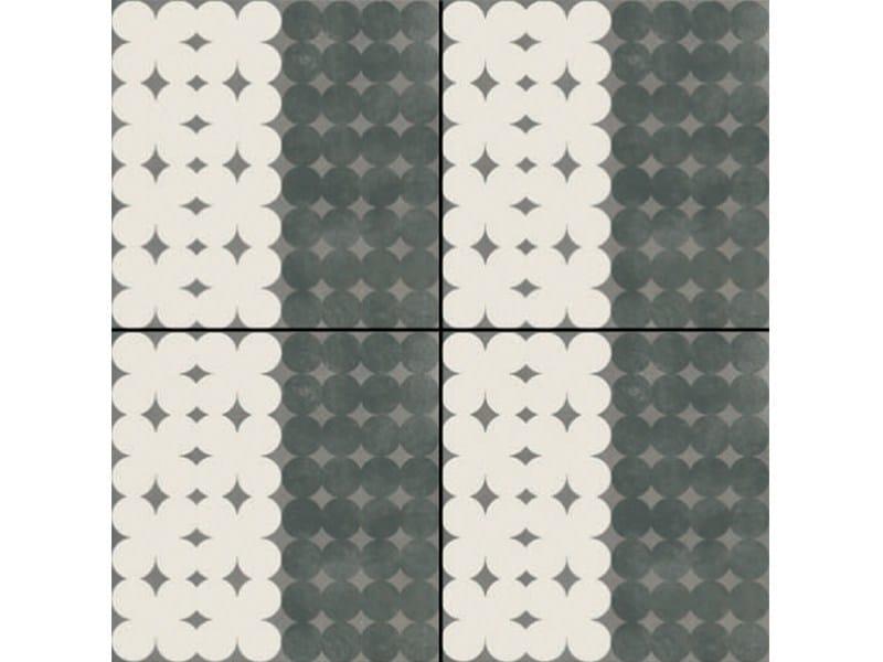 Glazed stoneware wall/floor tiles AZULEJ NERO TREVO by MUTINA