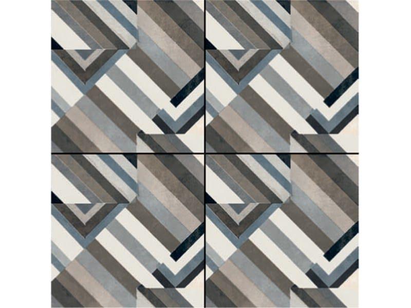 Glazed stoneware wall/floor tiles AZULEJ NERO PRATA by MUTINA