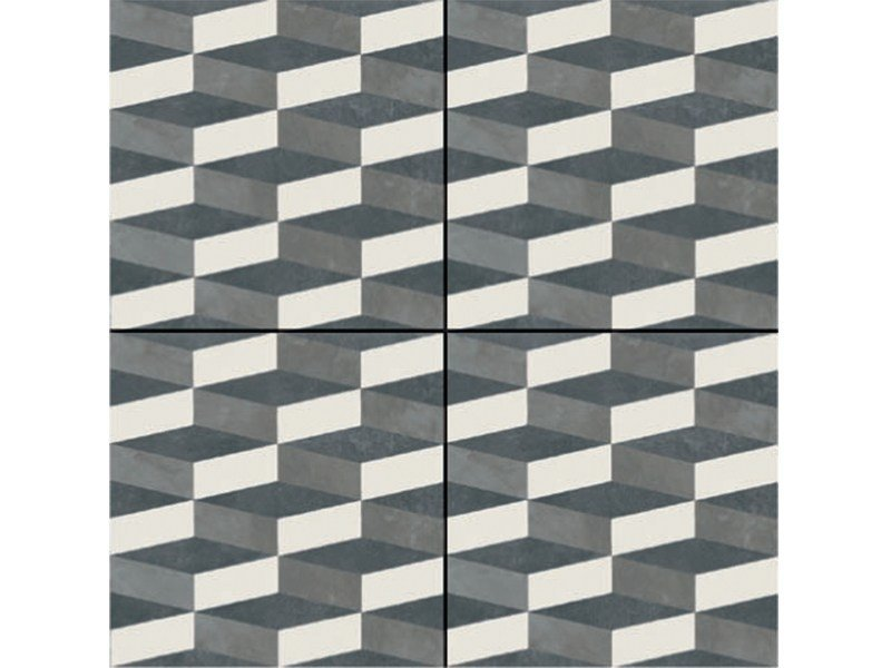 Glazed stoneware wall/floor tiles AZULEJ NERO CUBO by MUTINA