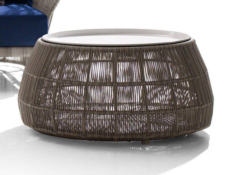 Round polyethylene garden side table CANASTA '13 | Garden side table by B&B Italia Outdoor
