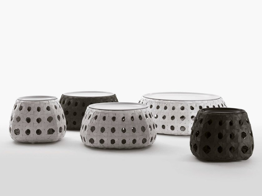 Round polyethylene garden side table CANASTA | Round coffee table by B&B Italia Outdoor