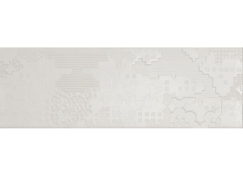 Indoor porcelain stoneware wall/floor tiles BAS-RELIEF PATCHWORK BIANCO by MUTINA