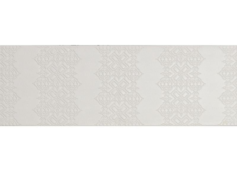 Indoor porcelain stoneware wall/floor tiles BAS-RELIEF GARALAND BIANCO by MUTINA
