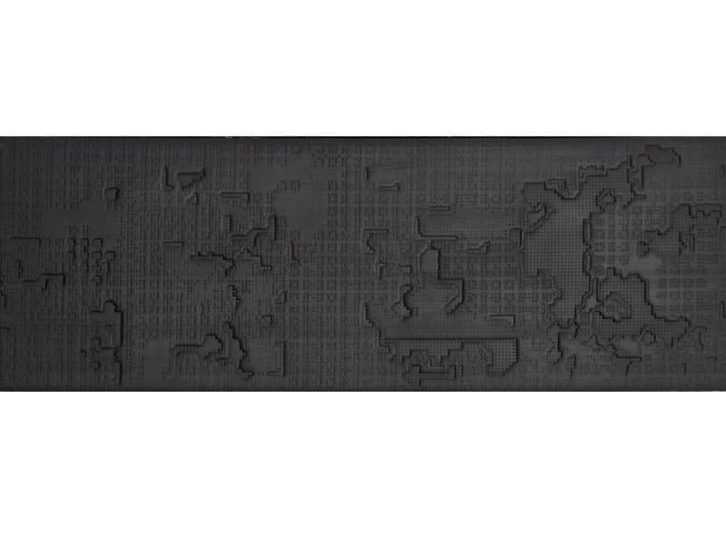 Pavimento/rivestimento in gres porcellanato per interni BAS-RELIEF CLOUD NERO by Mutina