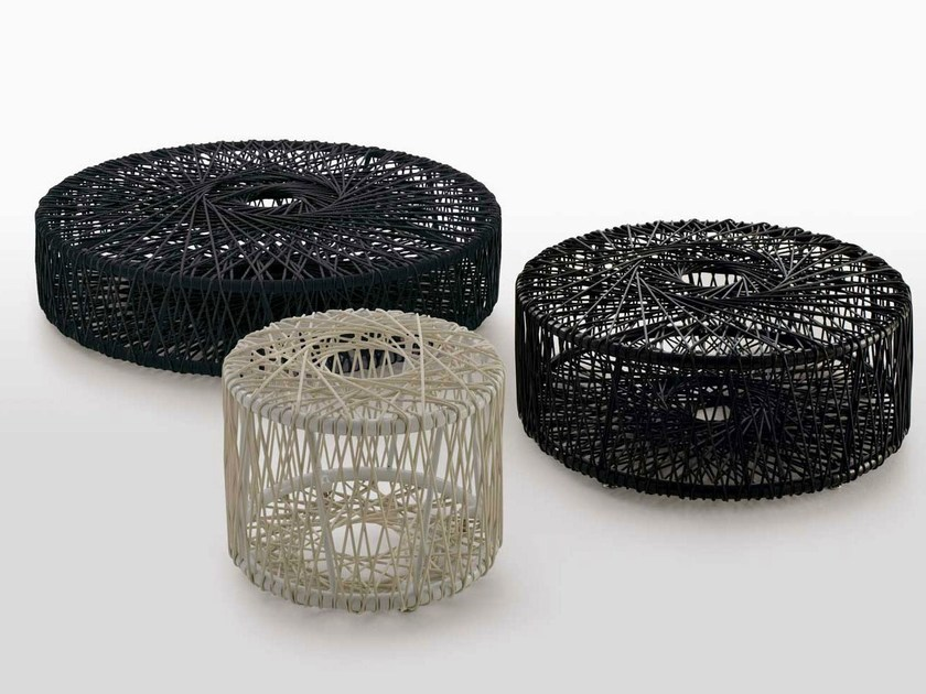 Low round polyethylene garden side table REEL by B&B Italia Outdoor