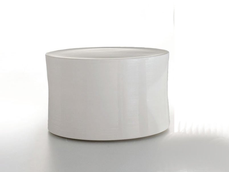 Round ceramic garden side table WHITE COLLECTION | Garden side table by B&B Italia Outdoor