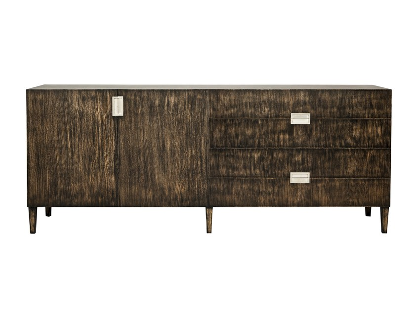 Oak sideboard with doors with drawers BANGALOR | Oak sideboard by AZEA