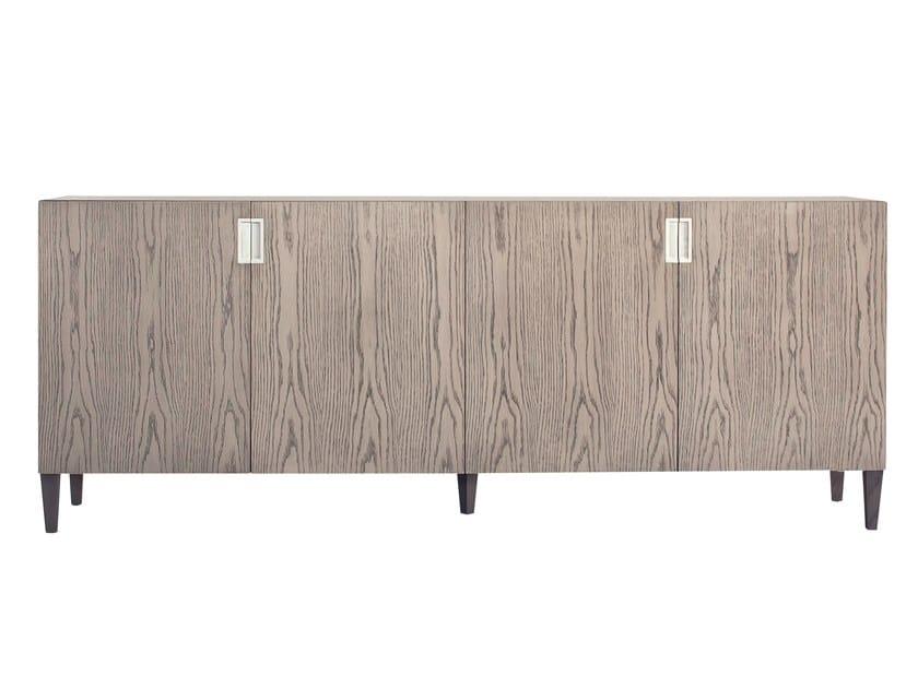 Wood veneer sideboard with doors BANGALOR | Wood veneer sideboard by AZEA