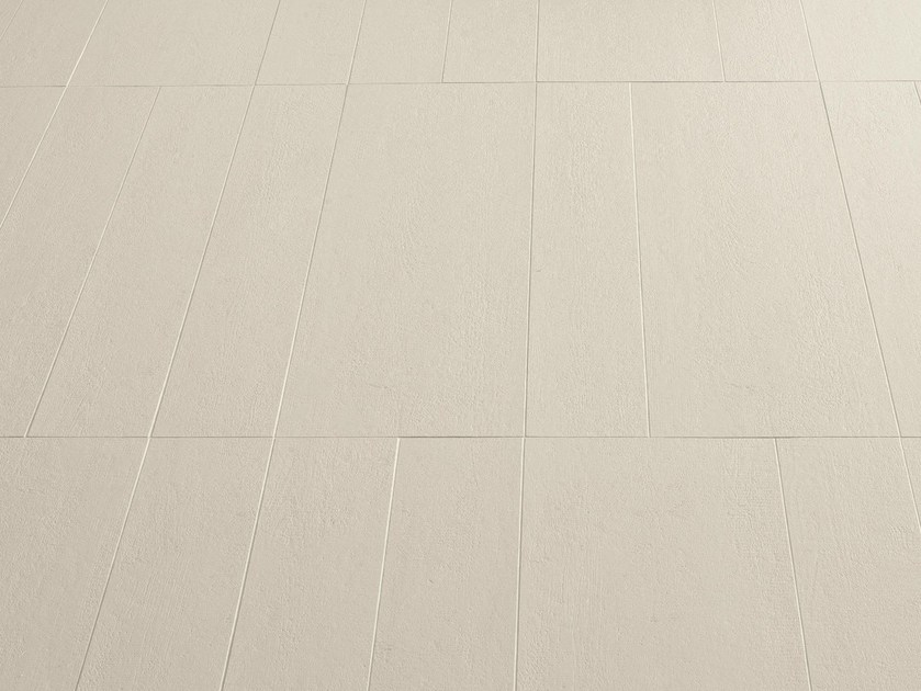 Porcelain stoneware wall tiles FLOW WHITE by MUTINA