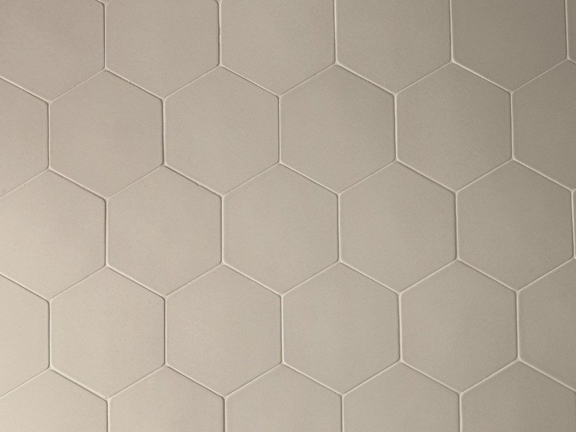 Porcelain stoneware wall tiles PHENOMENON HEXAGON GRIGIO by MUTINA
