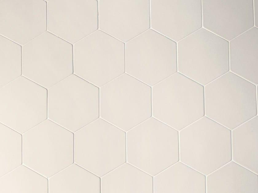 Porcelain stoneware wall tiles PHENOMENON HEXAGON BIANCO by MUTINA