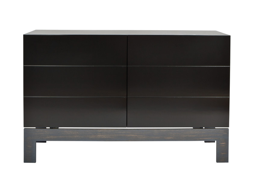 Lacquered oak sideboard with doors AKIRA | Sideboard by AZEA