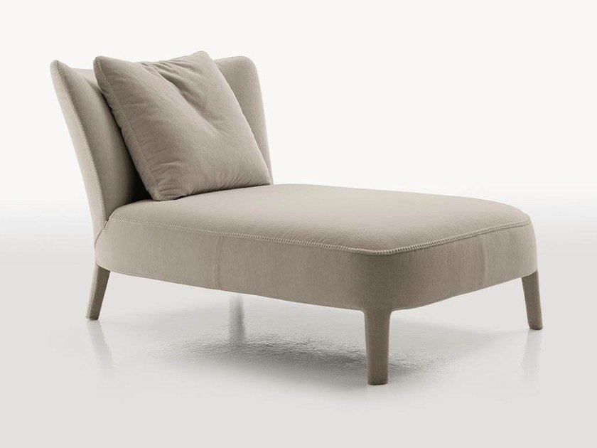 Upholstered fabric day bed FEBO   Chaise longue by Maxalto