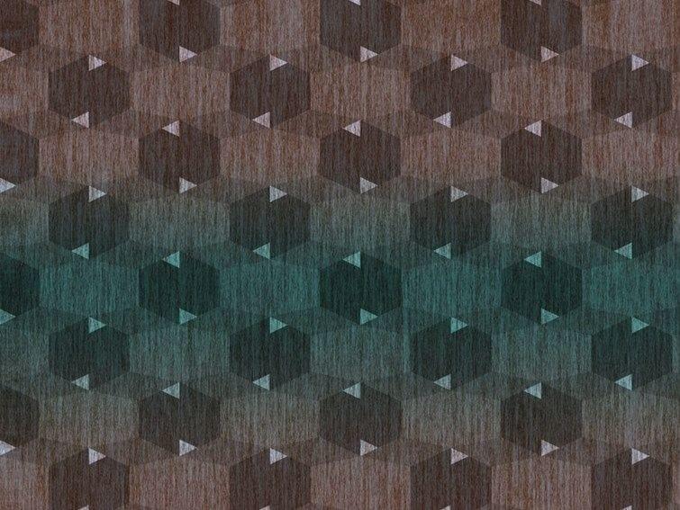 Geometric vinyl wallpaper BOISERIE by Wall&decò