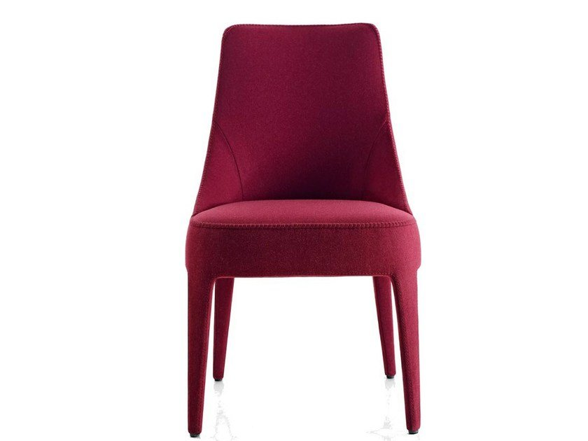Upholstered fabric chair FEBO | Chair by Maxalto