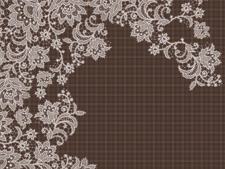 Tartan wallpaper with floral pattern CUT PAD by Wall&decò