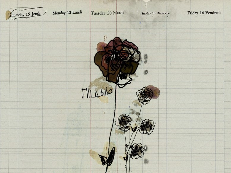 Writing with floral pattern MILANO by Wall&decò