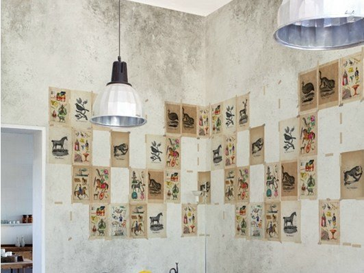 Motif vinyl wallpaper JUVENILE by Wall&decò