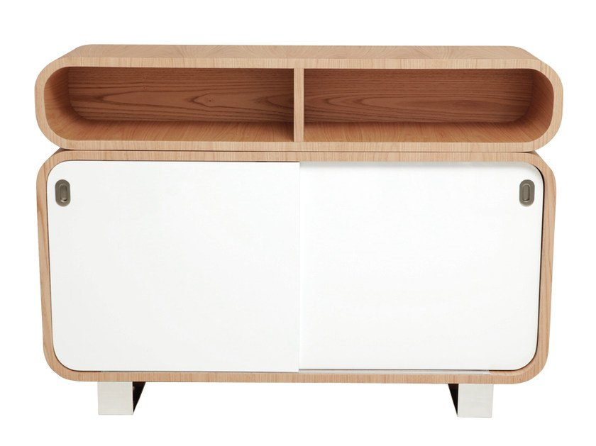 50s style sideboard with sliding doors MALLY | Sideboard with sliding doors by AZEA