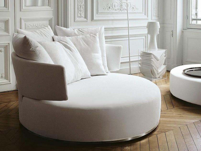 Divano rotondo girevole in tessuto amoenus divano in for Divano rotondo