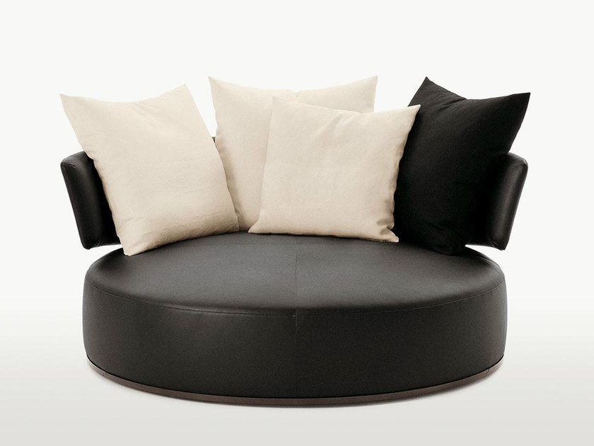 Round Leather Sofa Amoenus By Maxalto