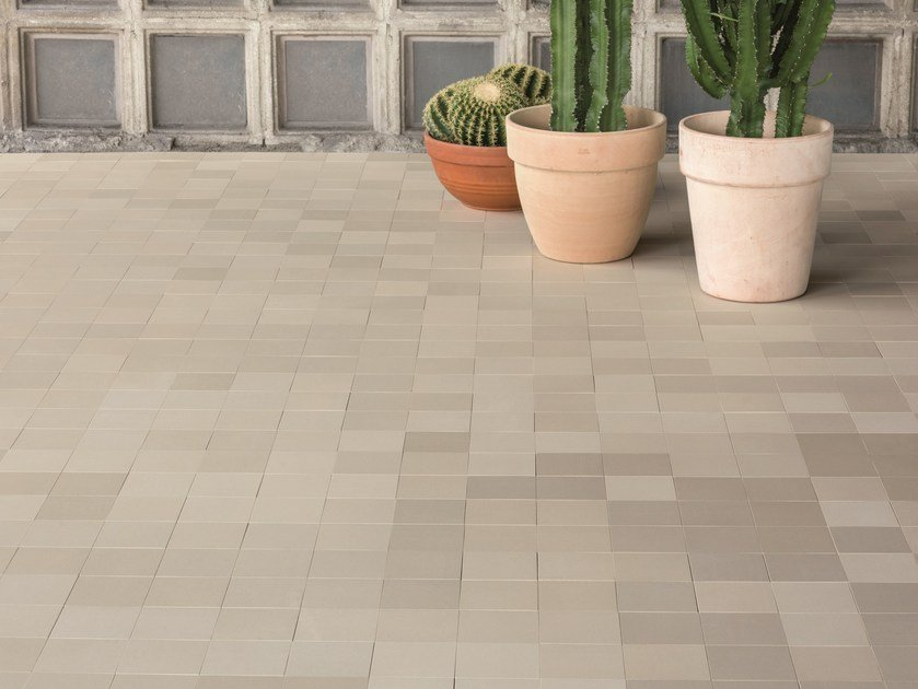 Porcelain stoneware wall/floor tiles MEWS FOG by MUTINA