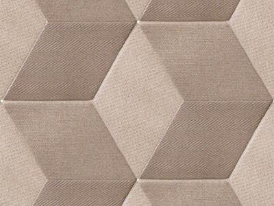 Pavimento/rivestimento in gres porcellanato per interni TEX BROWN by Mutina